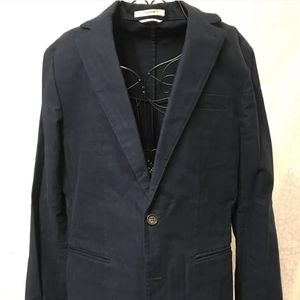 Club Monaco Men's Blue Black Size 38 R Jacket,